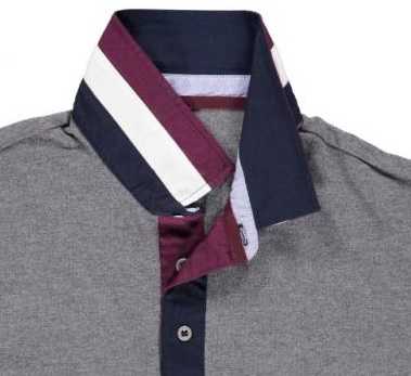 Contrast polo shirt collar