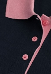 Knitted polo shirt collar