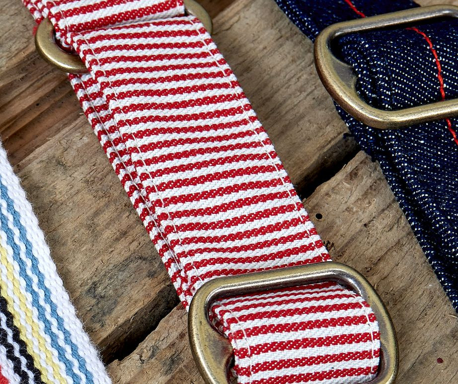 Professional apron designers and uk manufacturer - striped strap