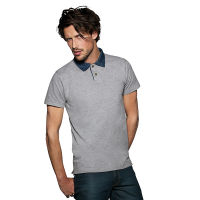Denim Look Mens Polo