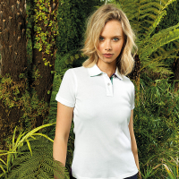 Womens check trim polo