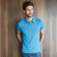 Melange short sleeve polo shirt