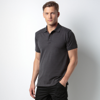 Shoulder patch polo shirt Superwash 60°C