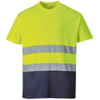 Hi-vis two-tone cotton comfort t shirt