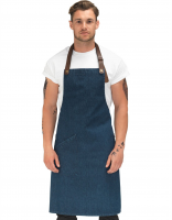 Denim and Leather Bib Apron