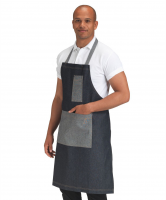 Denim Bib Apron Contrast Pocket