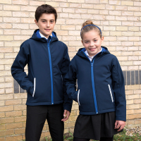 Junior hooded softshell jacket