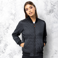 Women's quilted flight jacket