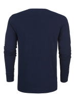 Organic Denim Round Neck Long Sleeved Tee