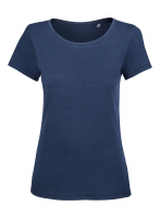 Organic Ladies Denim Round Neck Tee