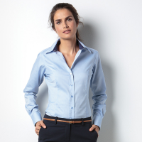 Women's Long Sleeve Contrast Oxford Shirt