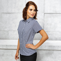 Women's Gingham short sleeve cotton shirt
