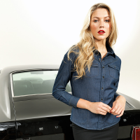 womens denim shirt