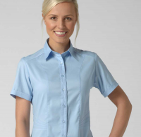 Annabel Ladies Short Sleeve Stretch Blouse