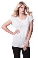 Rolled Sleeve Tunic T Shirt