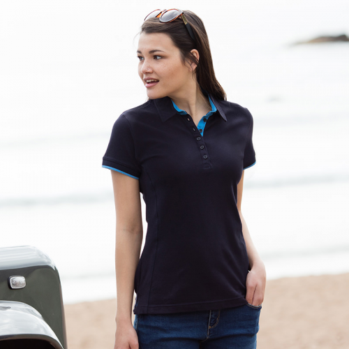 Womens Contrast Polo
