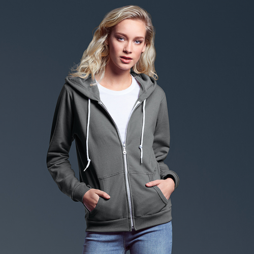Womens Full Zip Hooded Sweat