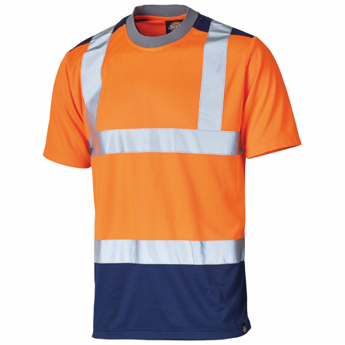 High-visibility two-tone t-shirt