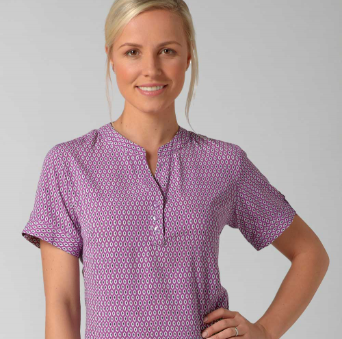 Beth Ladies Short Sleeve Pop Over Top