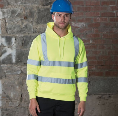 High-visibility hoodie