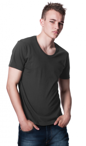 Mens Scooped Neck T Shirt