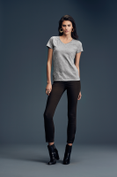 Womens Fashion Basic V-Neck Tee