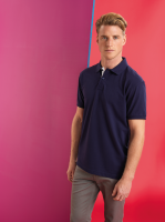 Mens classic fit contrast polo