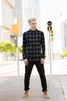 Brushed check casual shirt