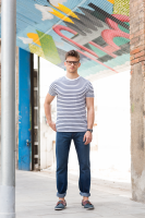 striped unisex T shirt