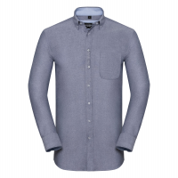 Long sleeve tailored washed Oxford shirt