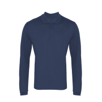 Long sleeve Coolchecker piqué polo
