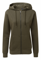 Women's zip-through organic hoodie
