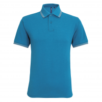 Mens classic fit tipped polo