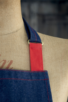 Denim Bib Apron with accent colour