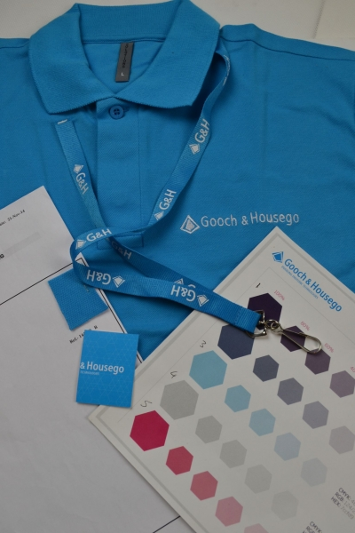 Pantone CMYK matched polo shirts made to order